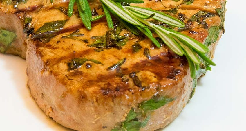 GERD-friendly tuna steak