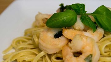 Shrimp Linguini for Heartburn